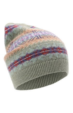 Детского шапка из шерсти и хлопка POLO RALPH LAUREN разноцветного цвета, арт. 313858546 | Фото 1 (Материал: Хлопок, Текстиль, Шерсть)