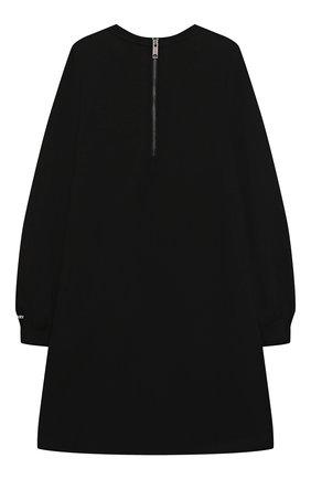 Детское хлопковое платье BURBERRY черного цвета, арт. 8045204 | Фото 2 (Материал внешний: Хлопок; Рукава: Длинные; Девочки Кросс-КТ: Платье-одежда; Случай: Повседневный; Ростовка одежда: 10 - 11 лет | 140 - 146см, 12 лет | 152 см, 16 лет | 164 см, 3 года | 98 см, 4 года | 104 см, 6 лет | 116 см, 8 лет | 128 см)