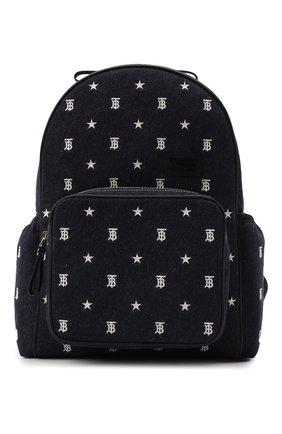 Детская рюкзак BURBERRY темно-синего цвета, арт. 8044538 | Фото 1 (Материал: Текстиль)