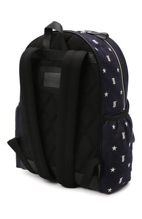 Детская рюкзак BURBERRY темно-синего цвета, арт. 8044538 | Фото 2 (Материал: Текстиль)
