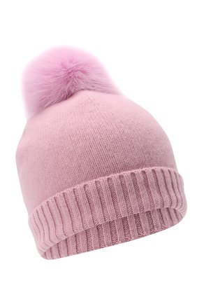 Детского кашемировая шапка GIORGETTI CASHMERE розового цвета, арт. MB1693/TU/12A | Фото 1 (Материал: Кашемир, Шерсть)