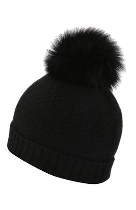 Детского кашемировая шапка GIORGETTI CASHMERE черного цвета, арт. MB1693/TU/4A | Фото 2 (Материал: Шерсть, Кашемир)
