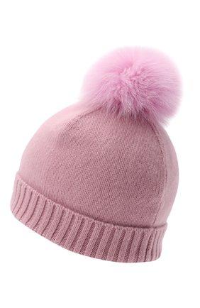Детского кашемировая шапка GIORGETTI CASHMERE розового цвета, арт. MB1693/TU/8A | Фото 2 (Материал: Кашемир, Шерсть)