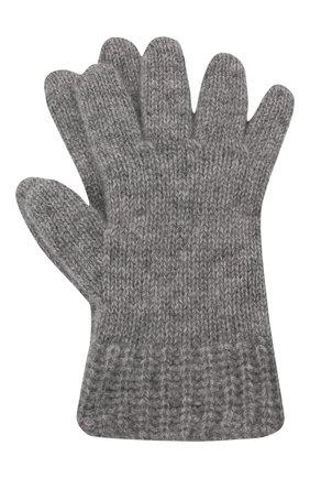 Детские кашемировые перчатки GIORGETTI CASHMERE темно-серого цвета, арт. MB1698/RASATI/8A | Фото 1 (Материал: Кашемир, Шерсть)