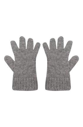 Детские кашемировые перчатки GIORGETTI CASHMERE темно-серого цвета, арт. MB1698/RASATI/8A | Фото 2 (Материал: Кашемир, Шерсть)
