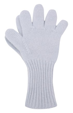 Детские кашемировые перчатки GIORGETTI CASHMERE голубого цвета, арт. MB1699/12A | Фото 1 (Материал: Шерсть, Кашемир)