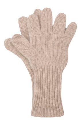 Детские кашемировые перчатки GIORGETTI CASHMERE бежевого цвета, арт. MB1699/12A | Фото 1 (Материал: Кашемир, Шерсть)