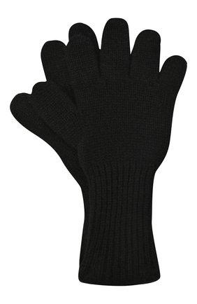 Детские кашемировые перчатки GIORGETTI CASHMERE черного цвета, арт. MB1699/12A | Фото 1 (Материал: Кашемир, Шерсть)