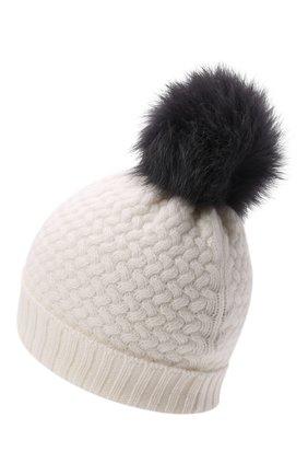 Детского кашемировая шапка GIORGETTI CASHMERE кремвого цвета, арт. MB1825/4A | Фото 2 (Материал: Кашемир, Шерсть)
