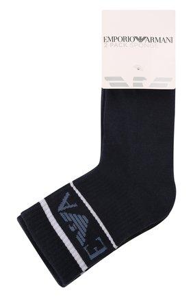 Детские комплект из двух пар носков EMPORIO ARMANI синего цвета, арт. 406500/1A651   Фото 1 (Материал: Текстиль, Хлопок)