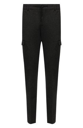 Мужские брюки-карго из вискозы ANDREA CAMPAGNA темно-серого цвета, арт. SUB/CN1217X | Фото 1 (Материал внешний: Вискоза; Длина (брюки, джинсы): Стандартные; Случай: Повседневный; Силуэт М (брюки): Карго; Стили: Кэжуэл)