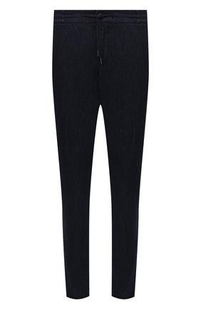 Мужские брюки ANDREA CAMPAGNA темно-синего цвета, арт. SPIAGGIA/PU0225X | Фото 1 (Материал внешний: Хлопок; Длина (брюки, джинсы): Стандартные; Случай: Повседневный; Стили: Кэжуэл)