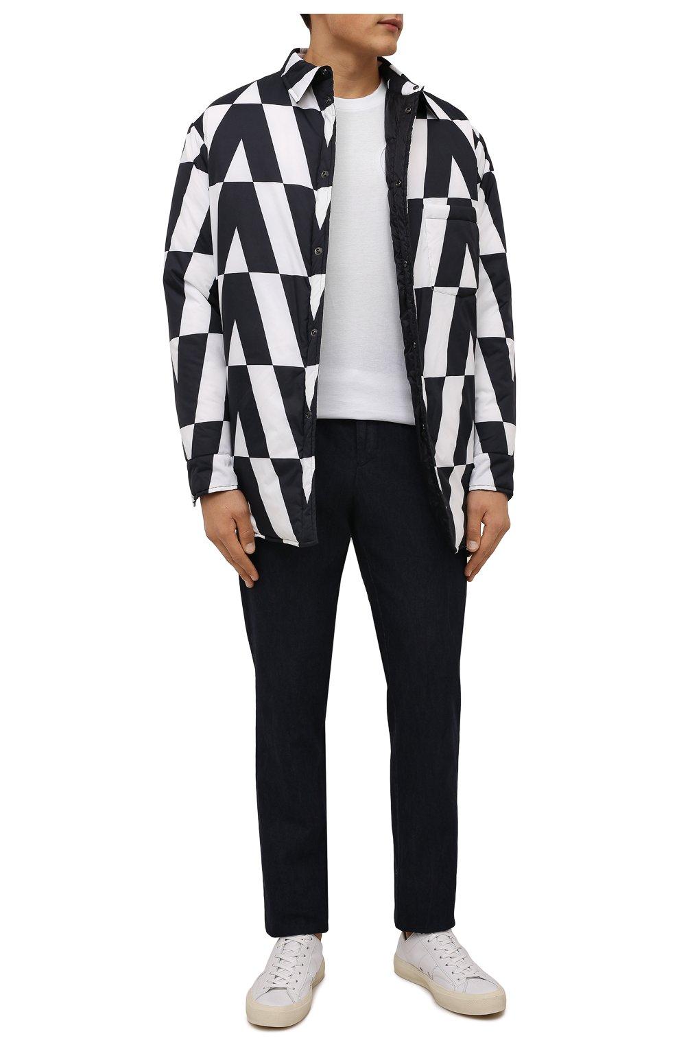 Мужские брюки ANDREA CAMPAGNA темно-синего цвета, арт. SPIAGGIA/PU0225X | Фото 2 (Длина (брюки, джинсы): Стандартные; Случай: Повседневный; Материал внешний: Хлопок; Стили: Кэжуэл)