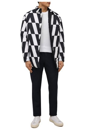 Мужские брюки ANDREA CAMPAGNA темно-синего цвета, арт. SPIAGGIA/PU0225X | Фото 2 (Материал внешний: Хлопок; Длина (брюки, джинсы): Стандартные; Случай: Повседневный; Стили: Кэжуэл)