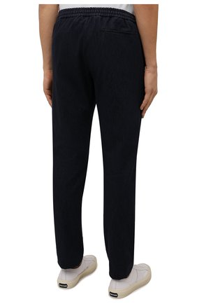 Мужские брюки ANDREA CAMPAGNA темно-синего цвета, арт. SPIAGGIA/PU0225X | Фото 4 (Длина (брюки, джинсы): Стандартные; Случай: Повседневный; Материал внешний: Хлопок; Стили: Кэжуэл)