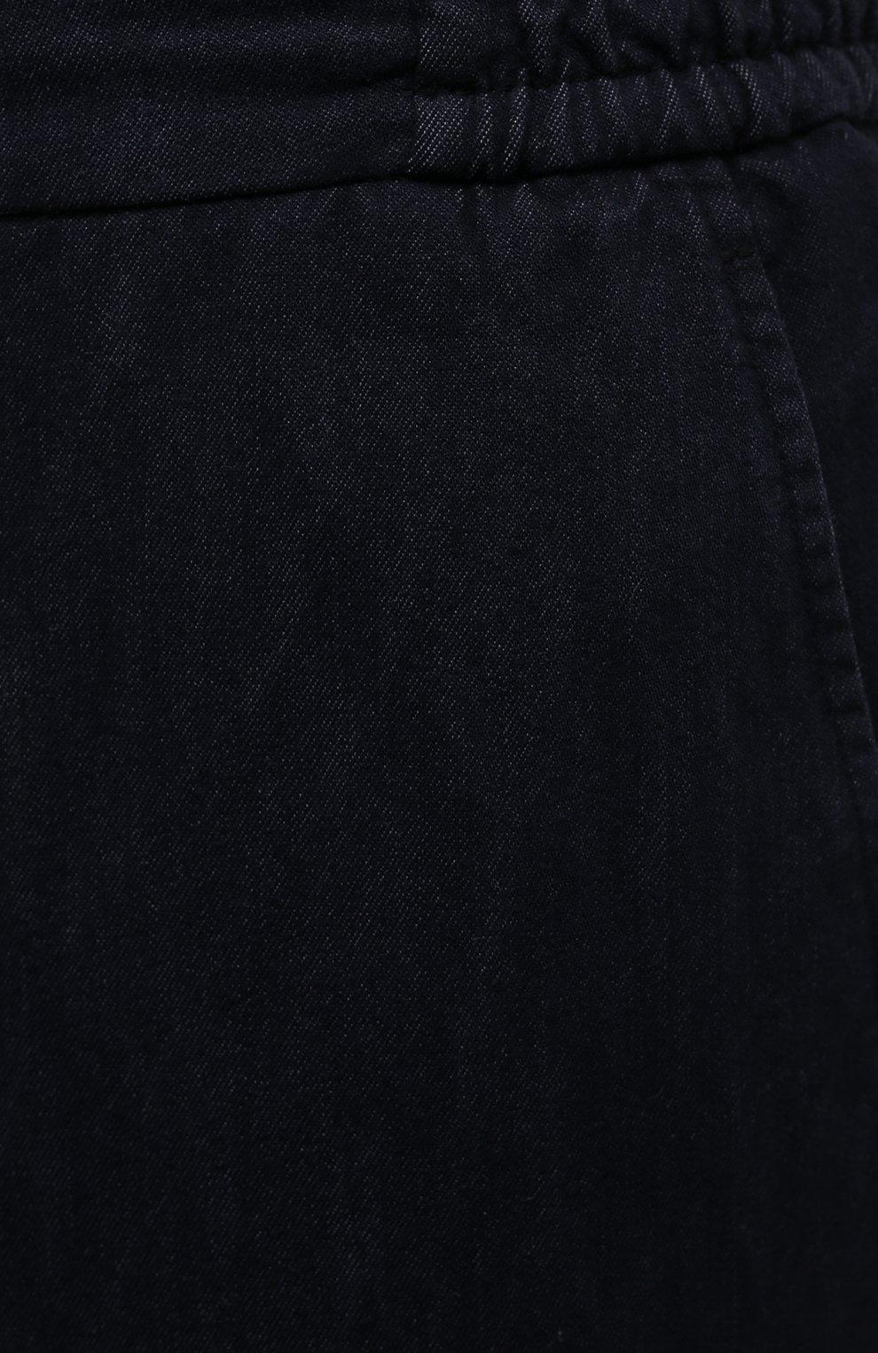 Мужские брюки ANDREA CAMPAGNA темно-синего цвета, арт. SPIAGGIA/PU0225X | Фото 5 (Длина (брюки, джинсы): Стандартные; Случай: Повседневный; Материал внешний: Хлопок; Стили: Кэжуэл)