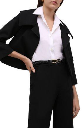 Женский кожаный пояс JIL SANDER черного цвета, арт. JSWT800436-WTS01045 | Фото 2 (Кросс-КТ: Тонкие)