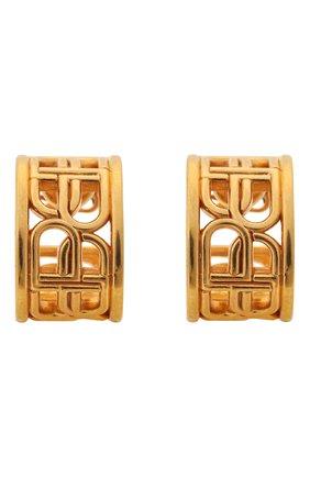 Женские серьги BALENCIAGA золотого цвета, арт. 674537/TZ99G | Фото 1 (Материал: Металл)