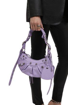 Женская сумка cagole xs BALENCIAGA сиреневого цвета, арт. 671309/23EBY | Фото 2 (Материал: Натуральная кожа; Размер: small; Ремень/цепочка: На ремешке; Сумки-технические: Сумки top-handle)