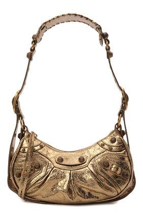 Женская сумка cagole xs BALENCIAGA золотого цвета, арт. 671309/0GT3M | Фото 1 (Ремень/цепочка: На ремешке; Материал: Натуральная кожа; Размер: small; Сумки-технические: Сумки top-handle)