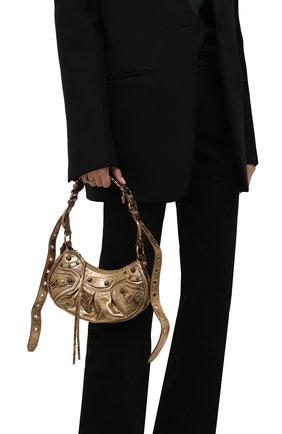 Женская сумка cagole xs BALENCIAGA золотого цвета, арт. 671309/0GT3M | Фото 2 (Ремень/цепочка: На ремешке; Материал: Натуральная кожа; Размер: small; Сумки-технические: Сумки top-handle)