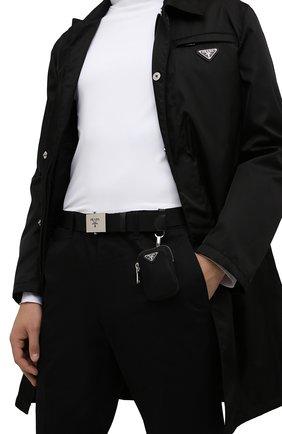 Мужской ремень PRADA черного цвета, арт. 2CN074-2DMN-F0002   Фото 2 (Материал: Текстиль, Синтетический материал; Случай: Повседневный)