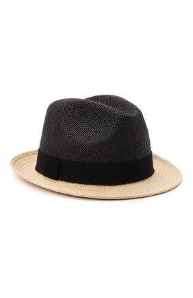 Мужская шляпа PRADA черного цвета, арт. 2HC046-2BDQ-F0889 | Фото 1 (Материал: Растительное волокно)