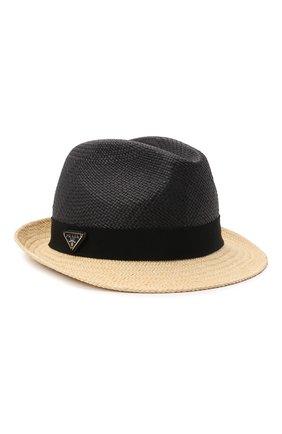 Мужская шляпа PRADA черного цвета, арт. 2HC046-2DDS-F0889   Фото 1