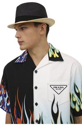 Мужская шляпа PRADA черного цвета, арт. 2HC046-2DDS-F0889   Фото 2