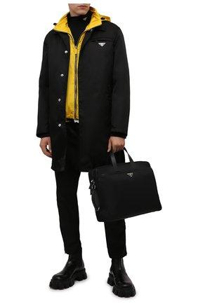 Мужская сумка для ноутбука PRADA черного цвета, арт. 2VE015-2DMH-F0002-OOO   Фото 2 (Материал: Текстиль; Ремень/цепочка: На ремешке)