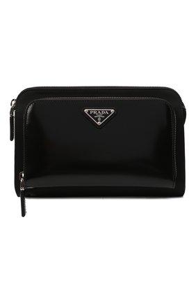Мужская сумка PRADA черного цвета, арт. 2VH130-789-F0002-OOO | Фото 1 (Материал: Текстиль; Ремень/цепочка: На ремешке)