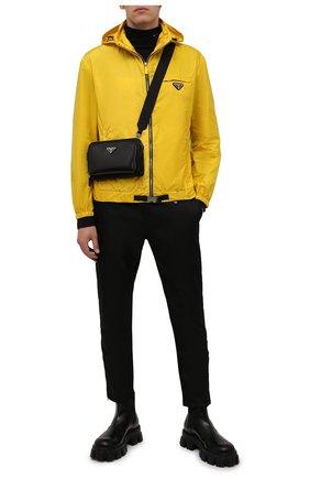 Мужская сумка PRADA черного цвета, арт. 2VH130-789-F0002-OOO | Фото 2 (Материал: Текстиль; Ремень/цепочка: На ремешке)