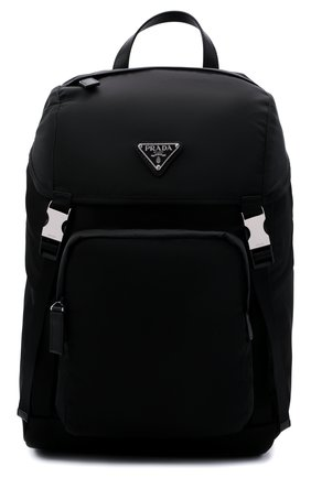 Мужской рюкзак PRADA черного цвета, арт. 2VZ135-2DMG-F0002-HCL | Фото 1 (Материал: Текстиль; Ремень/цепочка: На ремешке)