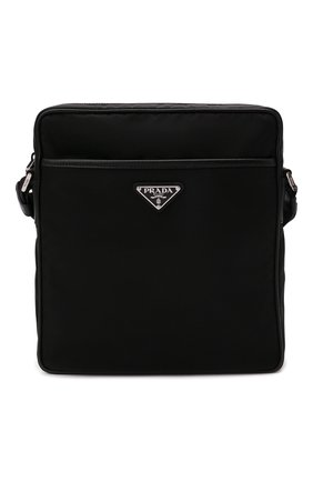 Мужская сумка PRADA черного цвета, арт. 2VH002-2DMH-F0002-OOM | Фото 1 (Ремень/цепочка: На ремешке; Материал: Текстиль)