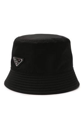 Мужская панама PRADA черного цвета, арт. 2HC137-2DMI-F0002 | Фото 1 (Материал: Текстиль, Синтетический материал)
