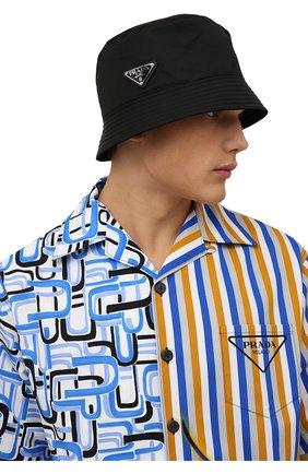Мужская панама PRADA черного цвета, арт. 2HC137-2DMI-F0002 | Фото 2 (Материал: Текстиль, Синтетический материал)