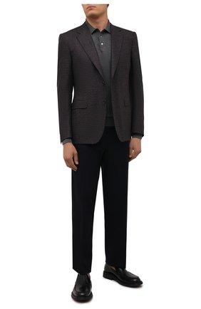 Мужской пиджак из шерсти и шелка CANALI темно-синего цвета, арт. 11280/CF02801 | Фото 2 (Материал подклада: Купро; Рукава: Длинные; Длина (для топов): Стандартные; Материал внешний: Шерсть; 1-2-бортные: Однобортные; Стили: Классический; Случай: Коктейльный; Пиджаки М: Приталенный)