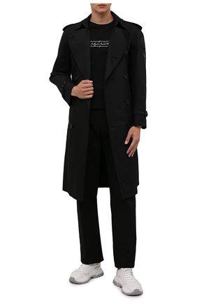 Мужская хлопковый лонгслив YOHJI YAMAMOTO черного цвета, арт. HX-T83-984 | Фото 2 (Рукава: Длинные; Материал внешний: Хлопок; Длина (для топов): Стандартные; Принт: С принтом; Стили: Панк)