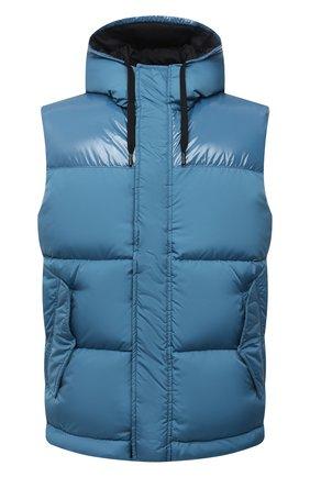 Мужской пуховый жилет HERNO голубого цвета, арт. PI0792U/12220 | Фото 1 (Материал внешний: Синтетический материал; Материал утеплителя: Пух и перо; Материал подклада: Синтетический материал; Кросс-КТ: Куртка, Пуховик; Стили: Спорт-шик; Длина (верхняя одежда): Короткие)