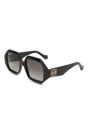 Женские солнцезащитные очки LOEWE черного цвета, арт. LW40058U   Фото 1 (Тип очков: С/з; Оптика Гендер: оптика-женское; Очки форма: Квадратные)