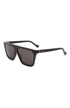 Женские солнцезащитные очки LOEWE черного цвета, арт. LW40060I   Фото 1 (Тип очков: С/з; Очки форма: Квадратные; Оптика Гендер: оптика-женское)