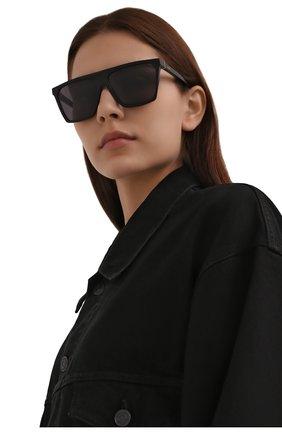Женские солнцезащитные очки LOEWE черного цвета, арт. LW40060I   Фото 2 (Тип очков: С/з; Очки форма: Квадратные; Оптика Гендер: оптика-женское)