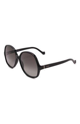 Женские солнцезащитные очки LOEWE черного цвета, арт. LW40062I   Фото 1 (Тип очков: С/з; Оптика Гендер: оптика-женское; Очки форма: Круглые)