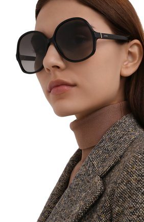 Женские солнцезащитные очки LOEWE черного цвета, арт. LW40062I   Фото 2 (Тип очков: С/з; Оптика Гендер: оптика-женское; Очки форма: Круглые)