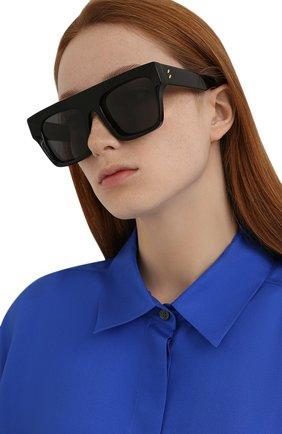 Женские солнцезащитные очки STELLA MCCARTNEY черного цвета, арт. SC40006I-01A | Фото 2 (Тип очков: С/з; Оптика Гендер: оптика-женское; Очки форма: Квадратные)
