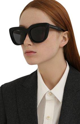 Женские солнцезащитные очки STELLA MCCARTNEY черного цвета, арт. SC40007I-01A | Фото 2 (Тип очков: С/з; Оптика Гендер: оптика-женское)