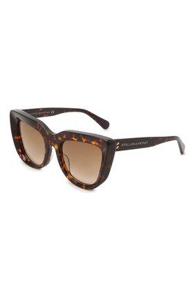 Женские солнцезащитные очки STELLA MCCARTNEY коричневого цвета, арт. SC40007I-52F   Фото 1 (Тип очков: С/з; Оптика Гендер: оптика-женское)
