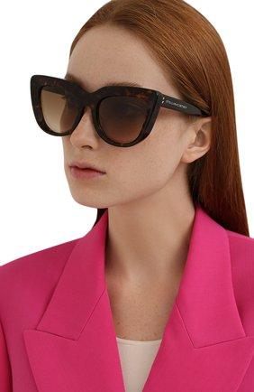 Женские солнцезащитные очки STELLA MCCARTNEY коричневого цвета, арт. SC40007I-52F   Фото 2 (Тип очков: С/з; Оптика Гендер: оптика-женское)