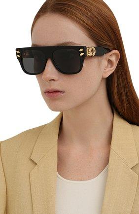 Женские солнцезащитные очки STELLA MCCARTNEY черного цвета, арт. SC40012I-01A | Фото 2 (Тип очков: С/з; Оптика Гендер: оптика-женское; Очки форма: Квадратные)