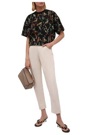 Женская хлопковая футболка KENZO черного цвета, арт. FB62TS9224SA | Фото 2 (Материал внешний: Хлопок; Рукава: Короткие; Длина (для топов): Стандартные; Женское Кросс-КТ: Футболка-одежда; Принт: С принтом; Стили: Спорт-шик)